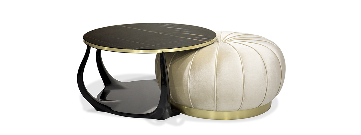 Embrace Cocktail Table Ottoman Luxury Coffee Table By Koket