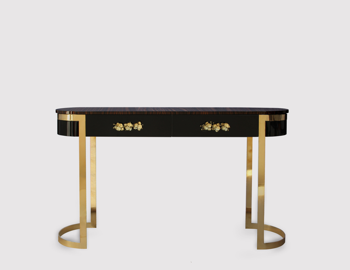 brass console table. Orchidea Console By KOKET Brass Table