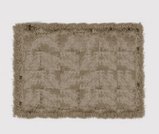 COWHIDE WITH MONGOLIAN GOAT CREAM Rug by KOKET