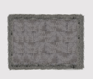 Rug COWHIDE WITH MONGOLIAN GOAT by Koket