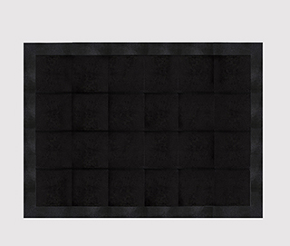 STINGRAY EMBOSSED JET BLACK Rug by KOKET