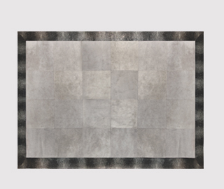 STINGRAY EMBOSSED PEWTER Rug by KOKET