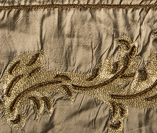 AARI BORDER DIRTY BROWN Fabric