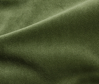 COZY VELVET EDEN GREEN Fabric by KOKET