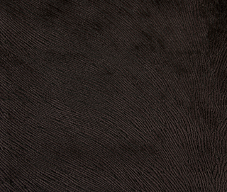 HIDE VELVET CHOCOLATE Fabric by KOKET