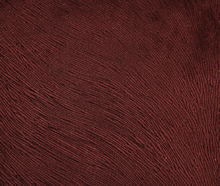HIDE VELVET CRANBERRY Fabric by KOKET