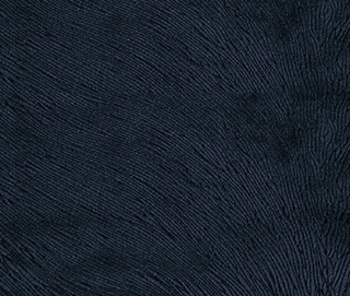 HIDE VELVET NAVY Fabric by KOKET