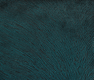 HIDE VELVET PEACOCK Fabric by KOKET