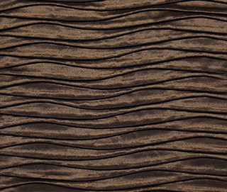 ROUCHED COCOA BROWN Fabric