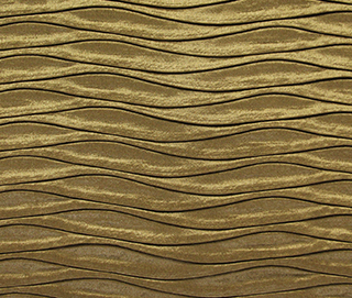 ROUCHED GOLD Fabric by KOKET