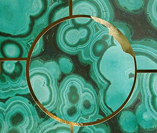 Glam Rock Malachite Wall Covering