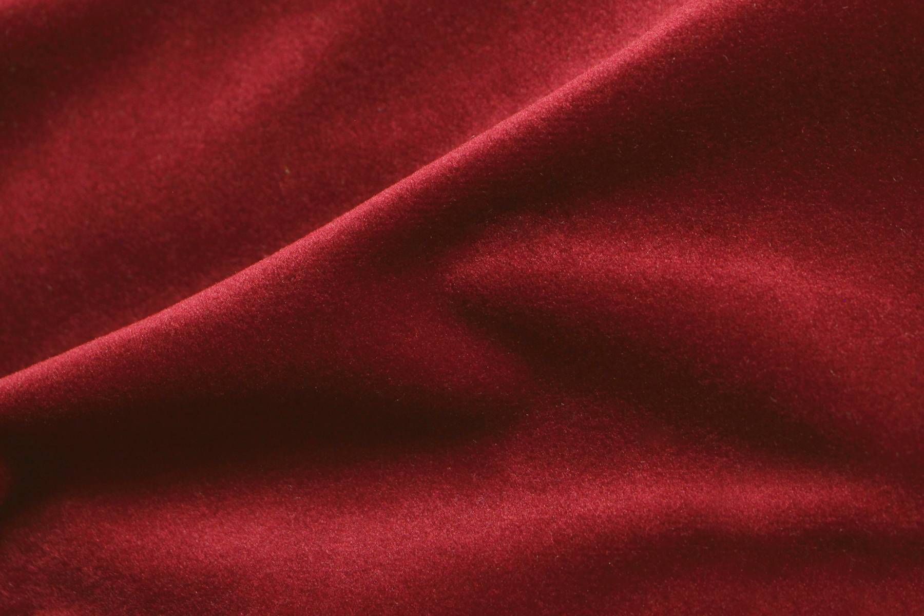 COZY VELVET LIPSTICK RED Fabric by KOKET