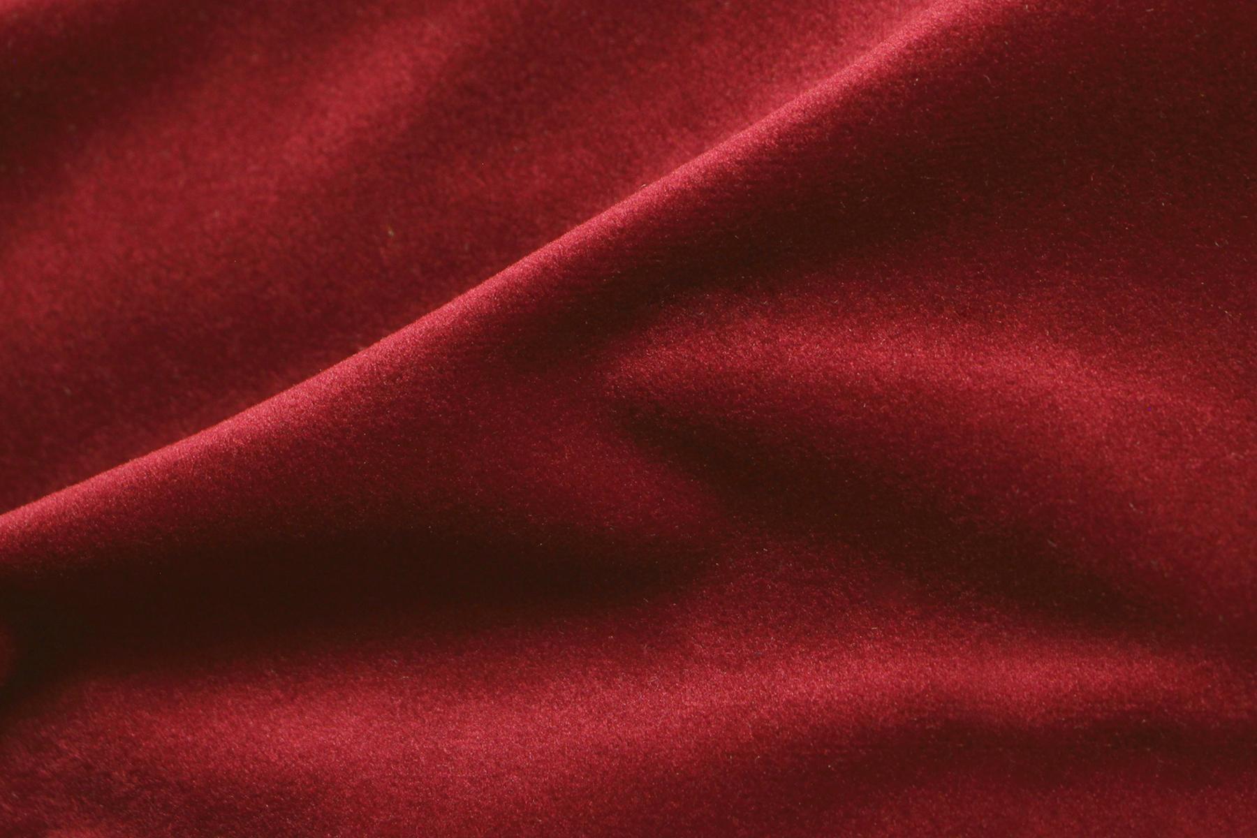 COZY VELVET LIPSTICK RED Fabric By KOKET