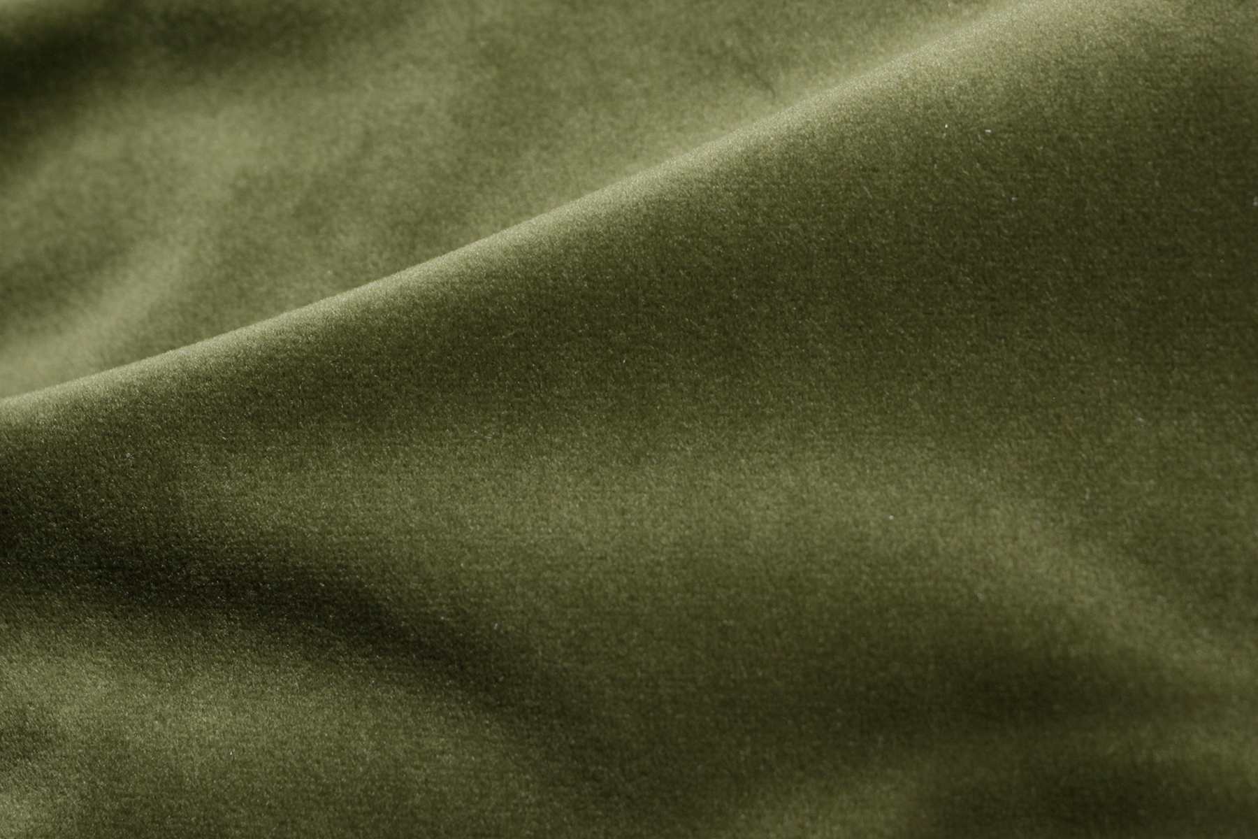 COZY VELVET MOSS GREEN Fabric by KOKET