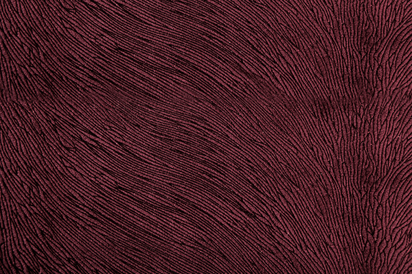 HIDE VELVET WINE Fabric by KOKET