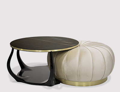 Embrace Cocktail Table Ottoman by KOKET