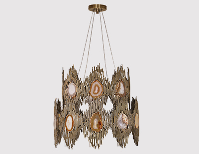 Vivre 2 Rings Chandelier by KOKET