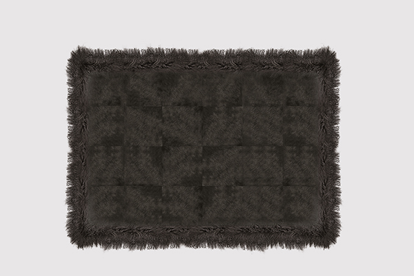 COWHIDE WITH MONGOLIAN GOAT EXPRESSO Rug by KOKET