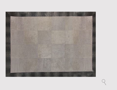 STINGRAY EMBOSSED COWHIDE GRAY Rug by KOKET