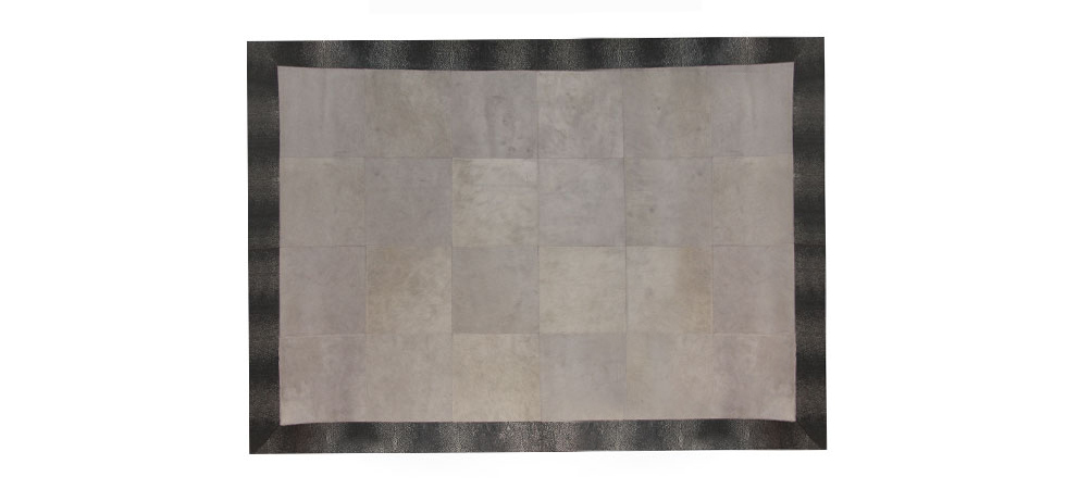 STINGRAY EMBOSSED COWHIDE GRAY Rug Koket Love Happens