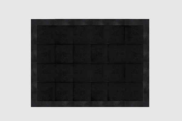 STINGRAY EMBOSSED COWHIDE JET BLACK Rug by KOKET