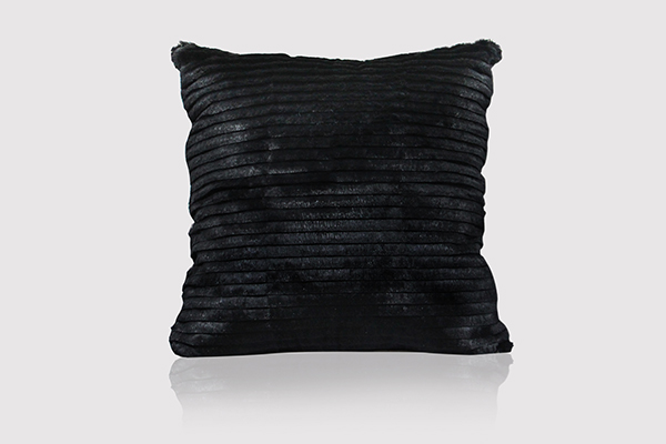 LASER CUT RABBIT JET BLACK Pillow by KOKET