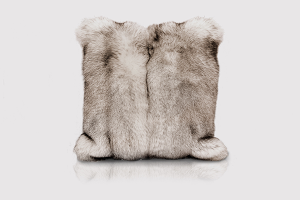POLAR FOX GRAY Pillow by KOKET