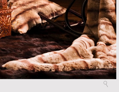MINK EXPRESSO Throw by KOKET