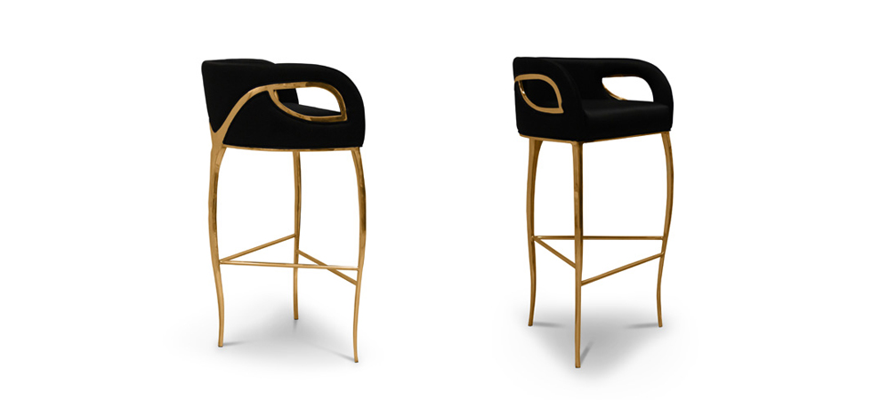 while polished brass bands delicately bind the chair