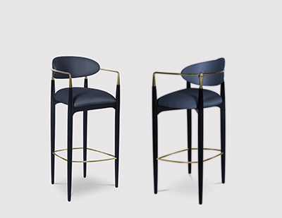 Nahéma Bar Stool by KOKET