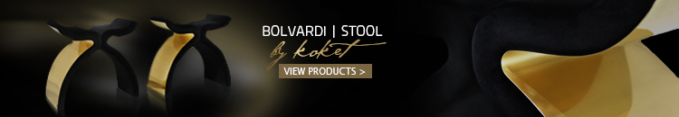 gold and black stool - y stools - bolvardi stool by koket
