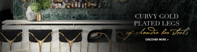 black and gold bar stool - chandra by koket