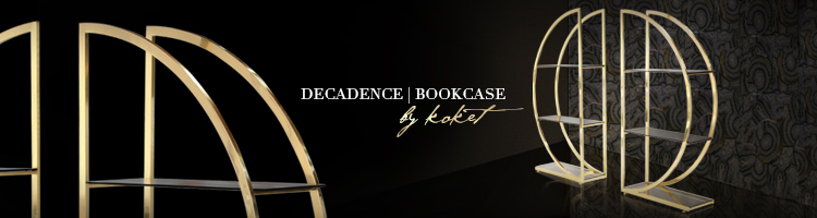 decadence round brass bookcase by koket