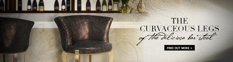 deliciosa bar stools koket luxury furniture home decor gold bronze animal skin