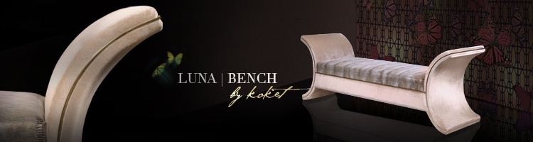 bench with curved ends - luna bench by koket