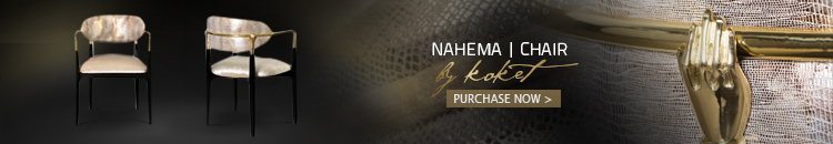 nahema chair by koket - dining chairs - luxury furniture - luxury dining chairs - unique dining chairs - brass and black dining chairs