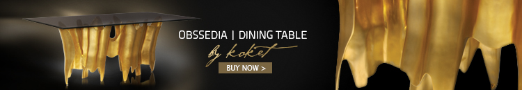 obssedia dining table koket - gold dining tables - unique dining tables - luxury furniture - glamorous dining tables