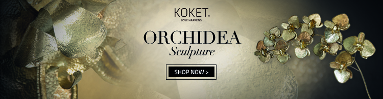 orchidea sculpture by koket - metal orchid wall art light