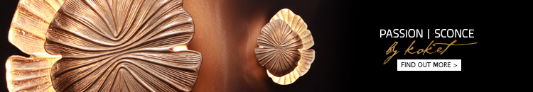 gold nature inspired wall sconce - passion sconce by koket