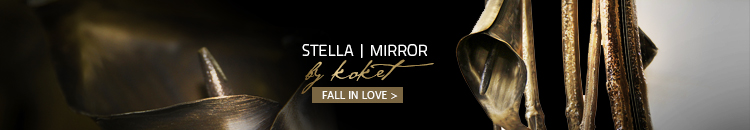 stella mirror by koket - floral mirrors - round mirrors - mirrors with flowers - brass mirrors - nature inspired mirrors - unique mirrors - luxury mirrors
