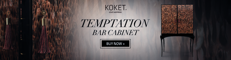 temptation luxury bar cabinet by koket with natural feather doors