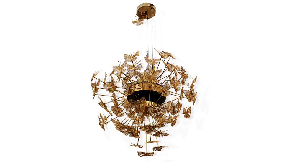 Nymph Gold Chandelier  Summer Home Décor by Koket nymph chandelier 1