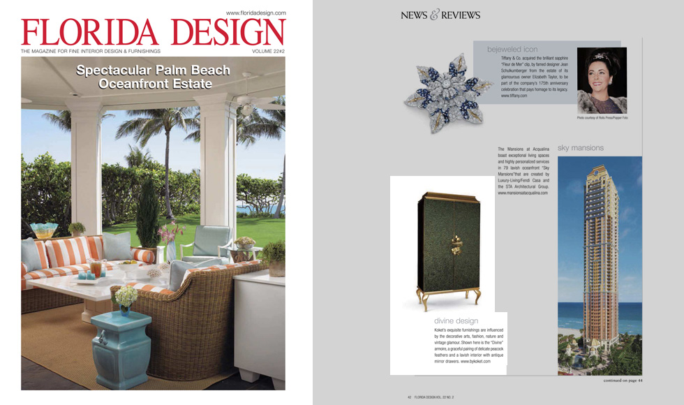 FLORIDA DESIGN Magazine 2012 cover by Koket