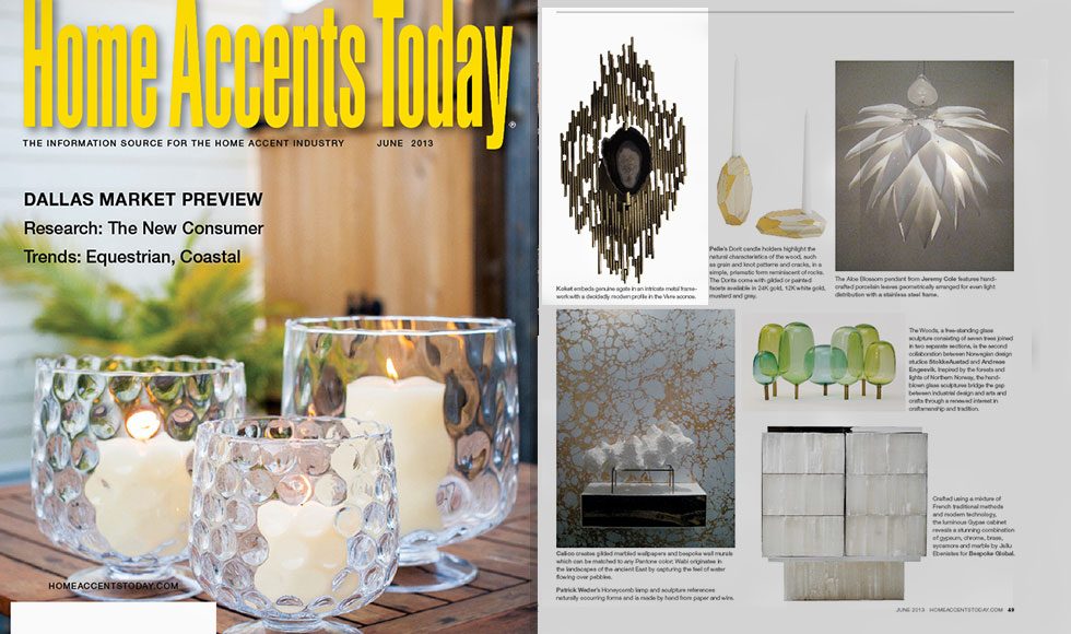 HOME ACCENTS TODAY 2013 cover by Koket