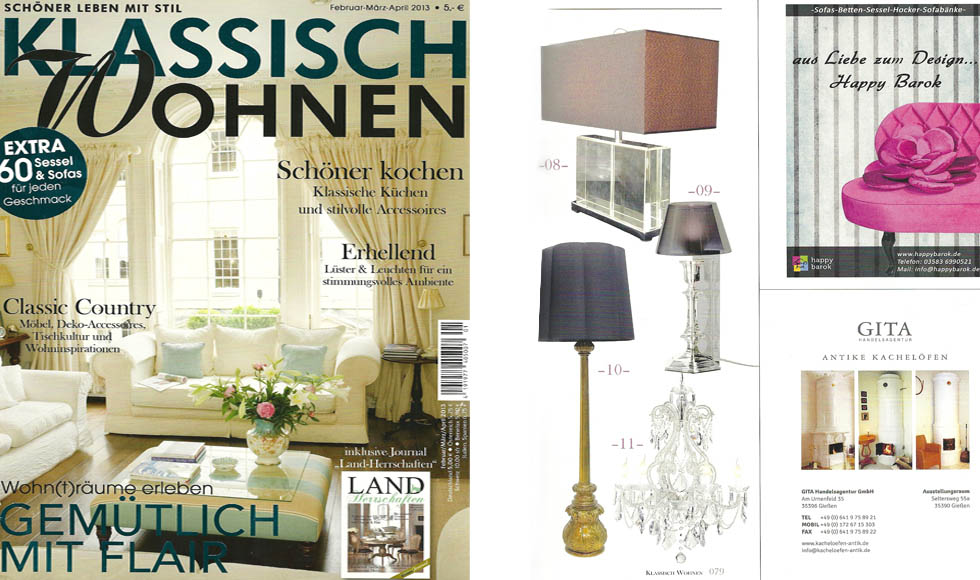 klassisch wohnen 2013 cover by koket. Black Bedroom Furniture Sets. Home Design Ideas