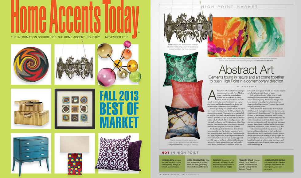 Home Accents Today  November 2013 cover by Koket