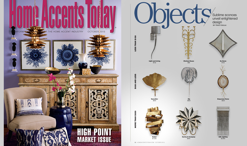 Home Accents Today  October 2013 cover by Koket