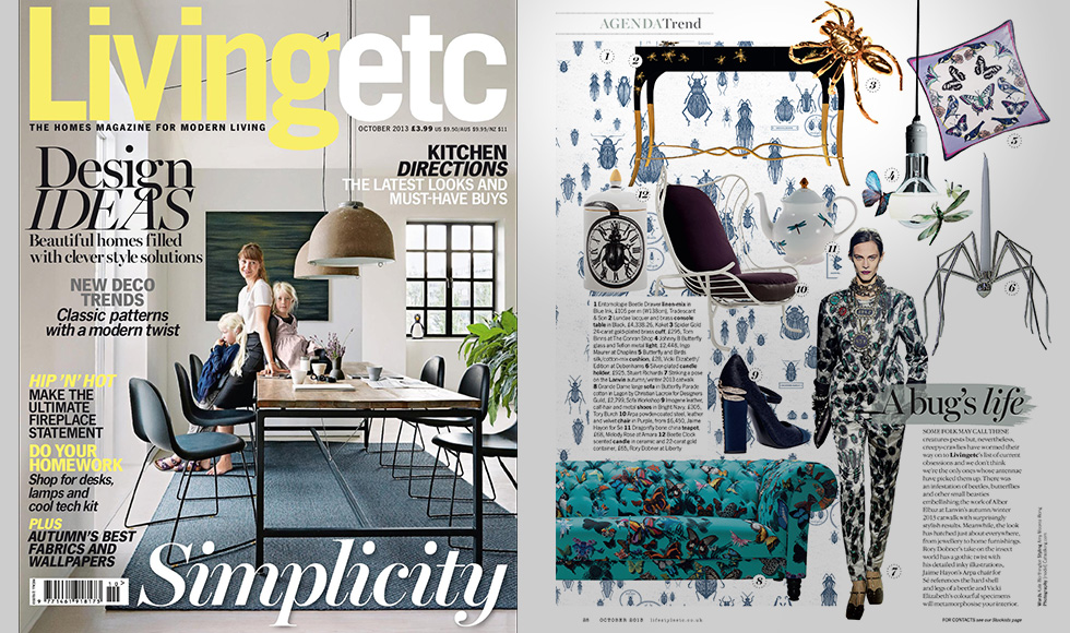Living etc October 2013 cover by Koket