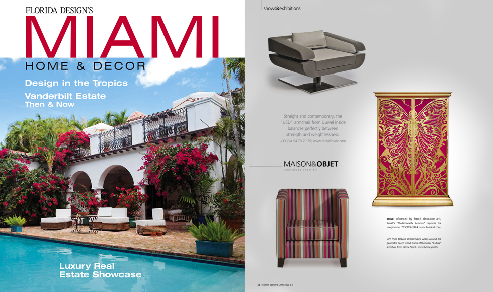 Miami Home Decor December 2013 cover by Koket