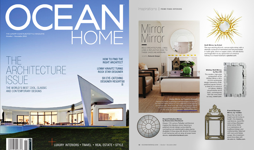 Ocean Home October 2013 cover by Koket